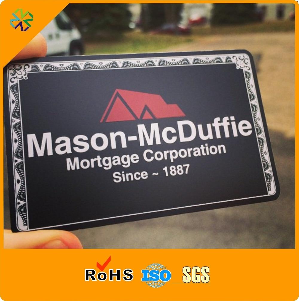 Us 149 99 2018 100 Pcs Lot China Lieferant Matt Schwarz Metall Visitenkarte Loch Gestanzt Metall Name Karte Vip Name Karte In Visitenkarten Aus