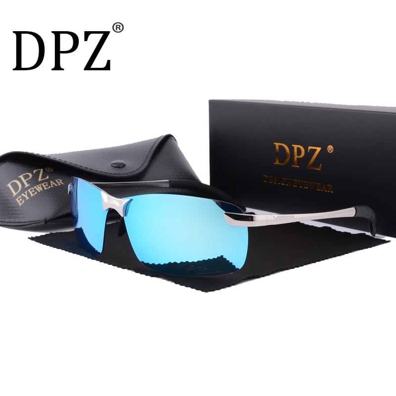30e5419ddfdcaf Chaude 2018 DPZ Polarisées lunettes de Soleil Hommes Marque Designer  Vintage Sans Monture rayons Soleil Lunettes Mâle Lunettes uv400 lentes de  sol hombre