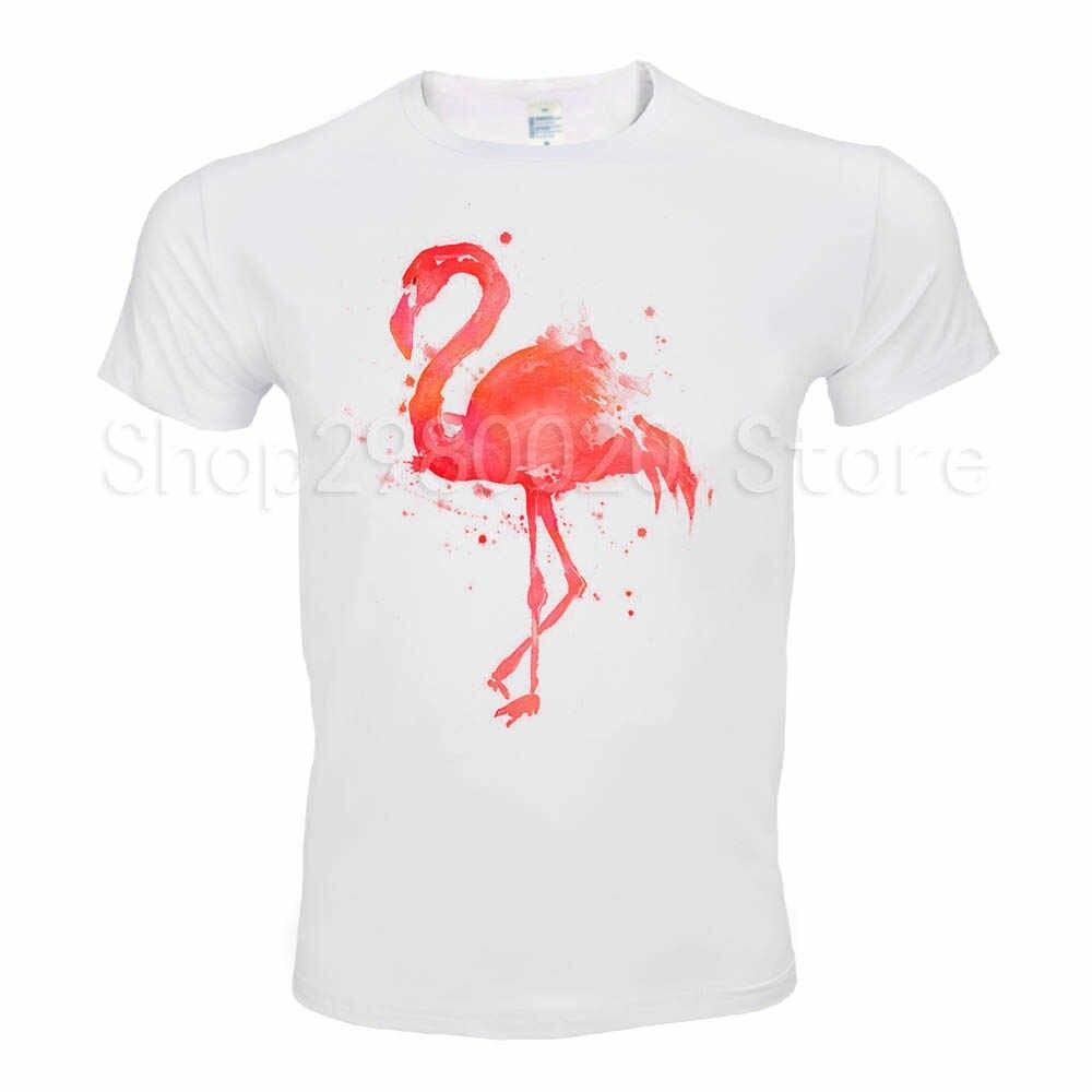 548c7c3f38 New Arrivals 2018 Men's Summer Beautiful flamingo Printed T Shirt Cool Tops  High Quality Casual Short