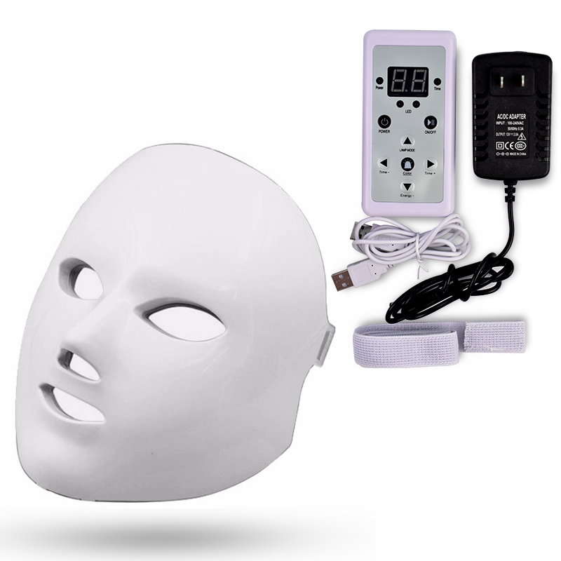 Photon Therapy Facial Care Mask 7 Color LED SPA Photon Facial Massage Beauty Mask Wrinkle Acne Removal Face Skin Rejuvenation