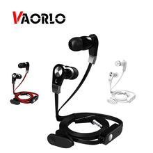 Original Earphone Earbuds VAORLO Huawei Ear-Headsets Wired Xiaomi Super-Stereo with Mic