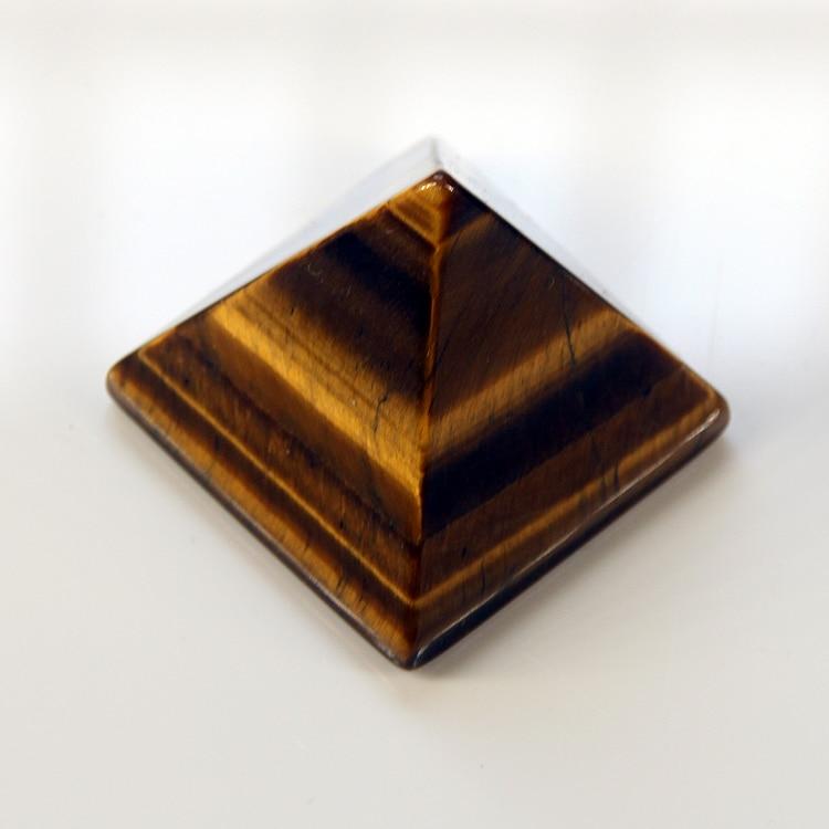 2015 pələng göz büllur kvars oyma 30 mm Piramida oyma Daş Chakra Stones Healing Reiki Pulsuz çatdırılma