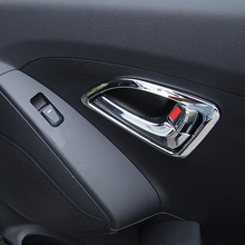 цена на Fit For Hyundai IX35 Tuscon 2011 2012 2013 Chrome Inside Interior Center Control Cover Trim Molding Car Accessories