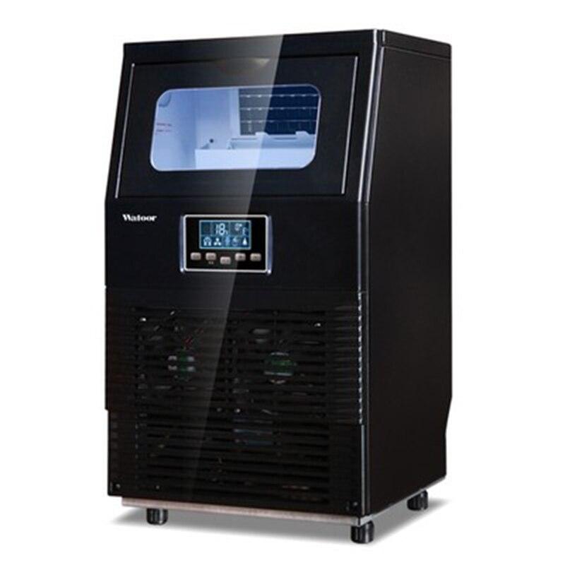 WZB 40F/A 200 W automatyczne elektryczne kwadratowy kształt ekspres do lodu przenośny blok do produkcji kostek lodu maszyna do paska do kawy sklep 40 kg/24 H w Maszyny do lodów od Dom i ogród na  Grupa 1