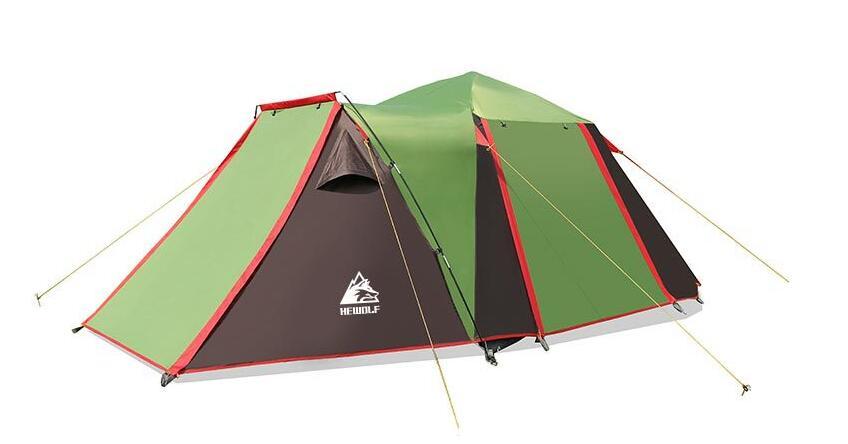 Extérieur 4-5 personnes pêche Camping tente automatique quatre portes Camping tente étanche 3000mm