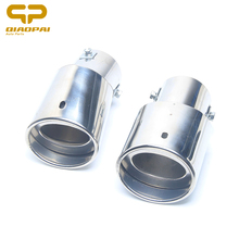 все цены на Modified Car Exhaust Muffler Tail Stainless Steel Pipe Chrome Trim Exhaust Rear Tail Muffler Tip Auto Car Tail Throat For Honda