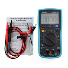 New Aneng  ANG860B+ Backlight AC/DC Ammeter Voltmeter Ohm Portable Meter Digital Multimeter