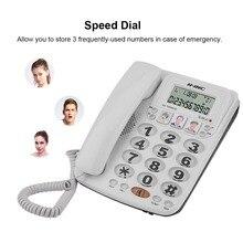 KX-2035CID 2-линии проводной телефон с громкой связью Скорость циферблат телефона входящего вызова Дисплей с личной информацией вызывающего человека Офис стационарный