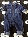 Bebé niños / niñas ropa niños mono pantalones 2016 niños de moda de ropa de primavera otoño algodón de herramientas bebé de los mamelucos de mezclilla