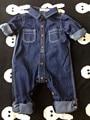 Bebê meninos / meninas roupas crianças jumpsuit calças 2016 moda primavera roupas infantil outono de ferramentas de algodão do bebê macacão de brim