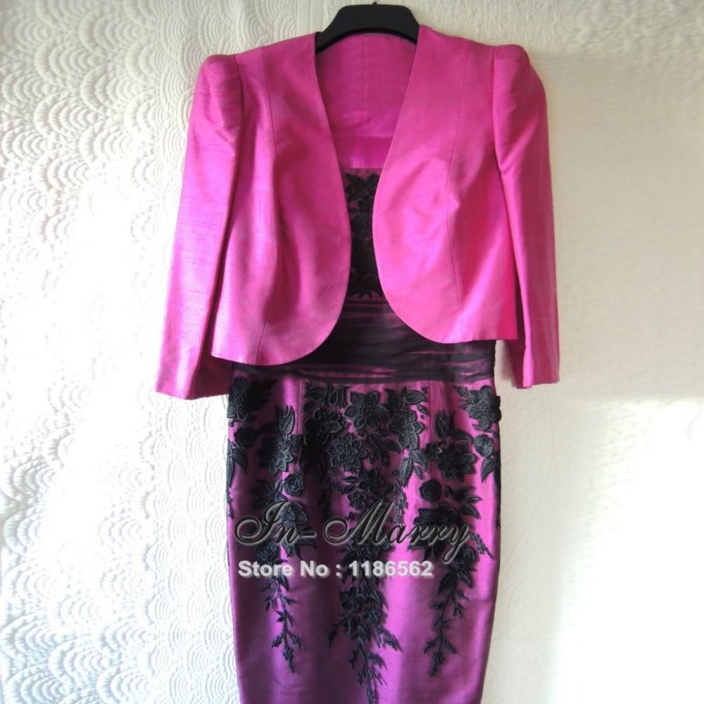 Mujer Formal Vestido de Fiesta con la Chaqueta 3/4 Mangas de ...