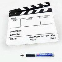 높은 품질의 무료 펜 흑백 Clapperboard입니다 했 보드 아크릴 영화 액션 컷 슬레이트 필름 액션 Clapperboard입니