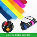 50Pcs/Lot Same Color Magic Velcro Cable Winder Wrapped Thread Earphone Line Winder Portable Compact Cable Organizer Tools