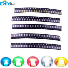цена на 80pcs/lot 100pcs/lot SMD 1206 Light Emitting Diode Kit Blue Green Red White Yellow
