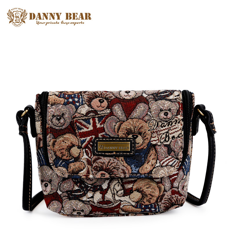 DANNY BEAR Cute Small Crossbody Bag For Women Fashion Vintage Mini Shoulder Bags Teenager Girls Cheap School Messenger Shell Bag katuner 2017 new cartoon bao bao canvas crossbody bags women cute mini shoulder bag for girls children bolsas feminina kb029