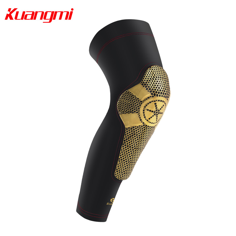 Kuangmi 1 дана Super-Wrapped Knee Pad Баскетбол Спорт Knee Support Basketball Rodilleras Knee Brace Leg Calf Sleeve Compression