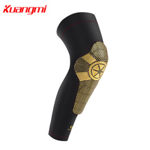Kuangmi Knee Pad Paded Support Sports Brace Basketball Rodilleras Leg Calf Sleeve Protector Football 1PC