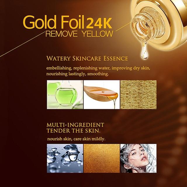BIOAQUA 24K Gold Face Cream Whitening Moisturizing 24 K Gold Day Creams & Moisturizers 24K Gold Essence Serum New Face Skin Care 5