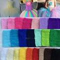 0-24 M Camiseta Sin Mangas Del Bebé Elástico Del Abrigo Del Pecho Infantil Waffle Crochet Tutu Tube Top Chica Hairband de la Venda Del Bebé 15*15 cm 6' 23 Color