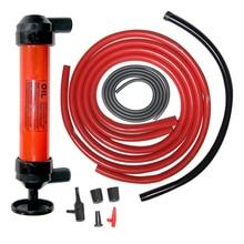 Manual Car Siphon Pump Pipe Oil Extractor Gas Liquid Water Change Transfer Hand Air Pumps #2