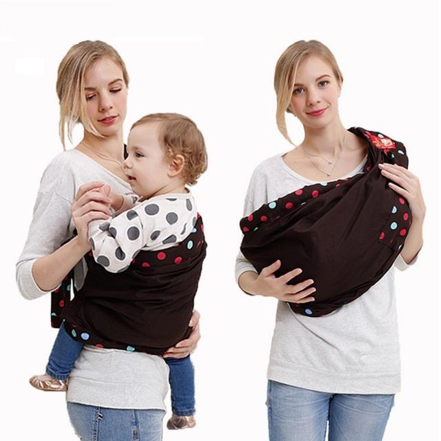 Ligero honda del portador de bebé de malla suave recién nacido abrigo del bebé canguro paquete de anillo de soporte frontal de la bolsa cuna de algodón del niño del cabrito