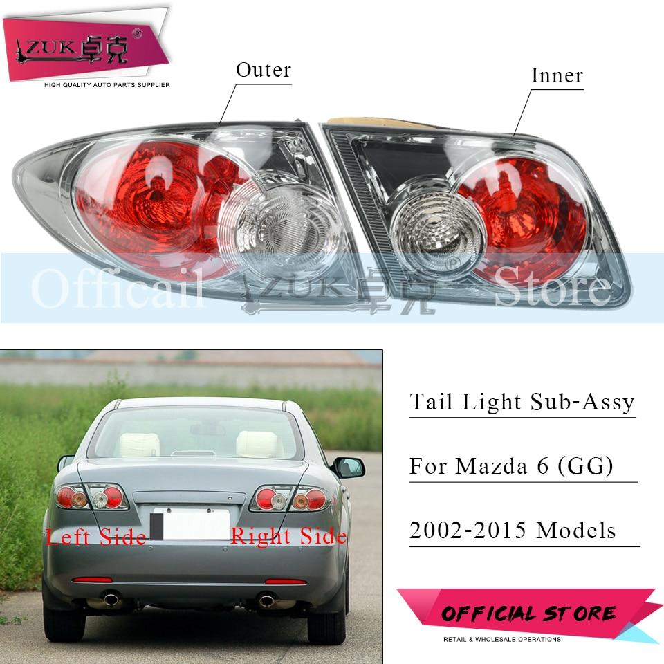 ZUK Rear Bumper Taillight Taillamp Brake Lamp Stop Light For Mazda 6 GG Sedan 2002-2015 M6 Fastback Sport Tail Light Tail Lamp