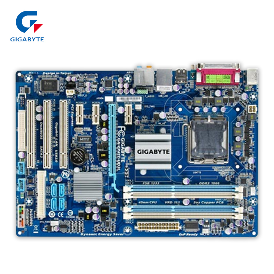 Gigabyte GA-EP41T-UD3L Desktop Motherboard EP41T-UD3L G41 LGA 775 DDR3 4G SATA2 USB2.0 ATX gigabyte ga ep45 ud3l original used desktop motherboard ep45 ud3l p45 lga 775 ddr2 16g sata2 usb2 0 atx
