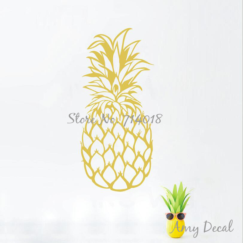Large Pineapple Wall Decal Gold Pineapple Decor Christmas Gift ...