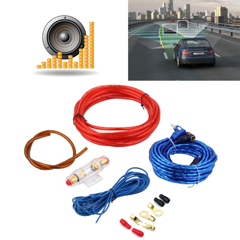 popular amplifier wiring kit buy cheap amplifier wiring kit lots car audio wire wiring amplifier sound box subwoofer speaker amp fuse holder audio power
