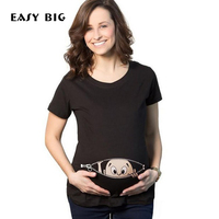 EASY BIG Summer Plus Size Original Pregnant Women T-shirts Maternity Tees Clothes Nursing Top Pregnancy Long Tee MC0001