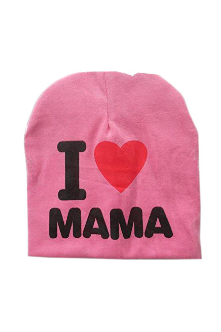 ABWE Fashion Autumn Baby Hat Knitted Warm Cotton Toddler Beanie Baby Cap Kids Girl Boy I Love Papa Mama Print Kid Hats