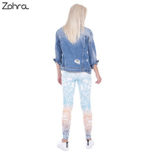Zohra Brand Mandala Mint Print Fitness Legging