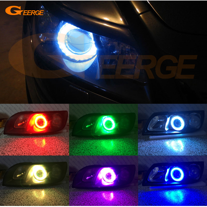 For Volvo C70 2006 2007 2008 2009 Excellent Angel Eyes Multi-Color Ultra bright RGB LED Angel Eyes kit Halo Rings for ford maverick 2005 2006 2007 excellent led angel eyes kit multi color ultra bright rgb led angel eyes halo rings