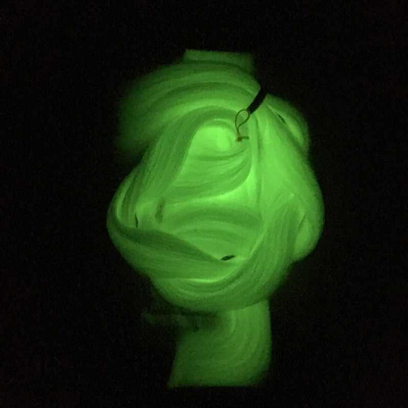Keinginan untuk Rambut 1-10packs 24 Inch 100G Bersinar Sintetis Jumbo Kepang Bersinar Rambut Dalam Kegelapan Mengepang Rambut Ekstensi