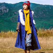 LYNETTE'S CHINOISERIE Autumn Winter Women Original Design Women Chinese Style National Trend Loose Fur Collar Overcoat