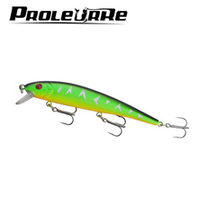 13cm 19g 1Pcs Super Quality wobblers 5 Colors Hard Bait Minnow Crank Fishing lures Bass Fresh Salt water 1# VMC hooks YR-203
