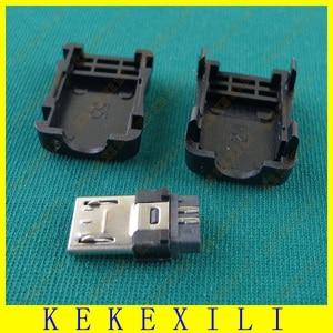 1000 шт. по всему миру 5 Pin T порт штекер Micro USB разъем + пластиковая крышка для DIY