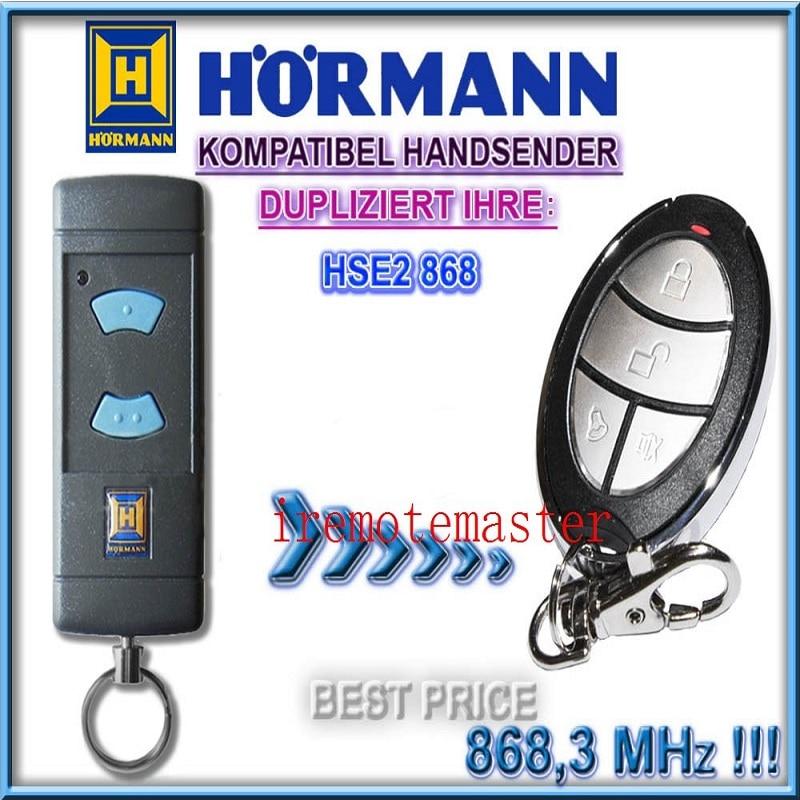 Hormann Hse2 868 Garage Door  Remote Control Compatible Remote Duplicator Free Shipping