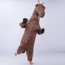 Girafe Halloween costume animal gonflable pour femmes hommes adultes cosplay onesies mascotte miraculeuse