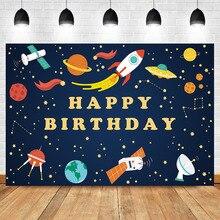 Neoback Happy Birthday Photography bBackdrop Newborn Baby Space Agency Astronaut Backdrops Studio Shoots
