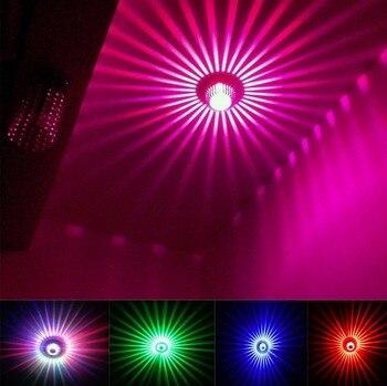 Modern 3W RGB Led Wall Light 110V/220V KTV Karaoke Bar Decoration LED Wall Lamps For Living Room Restaurant Coffee Shop