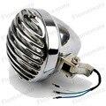 """6.5"""" Motoycycle Finned Bullet Headlight For Honda Kawasaki Suzuki Yamaha Cruiser Bobber CHOPPER SX650 CB"""