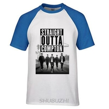 N.W.A T-shirt Men Straight Outta Compton Movie Ice Cube Dr Dre Eazy E DJ Yella MC Ren Tee Gangsta Rap Rock Band Hip Hop T Shirt(China)