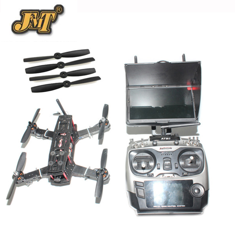 JMT Rc 250 FPV Quadcopter Carbon Fiber RTF Drone with SP Racing F3 Flight Controller CCD Camera Radiolink AT9S TX&RX jmt diy racer 250 fpv rtf drone with sp racing f3 flight controller ccd camera radiolink at9s tx