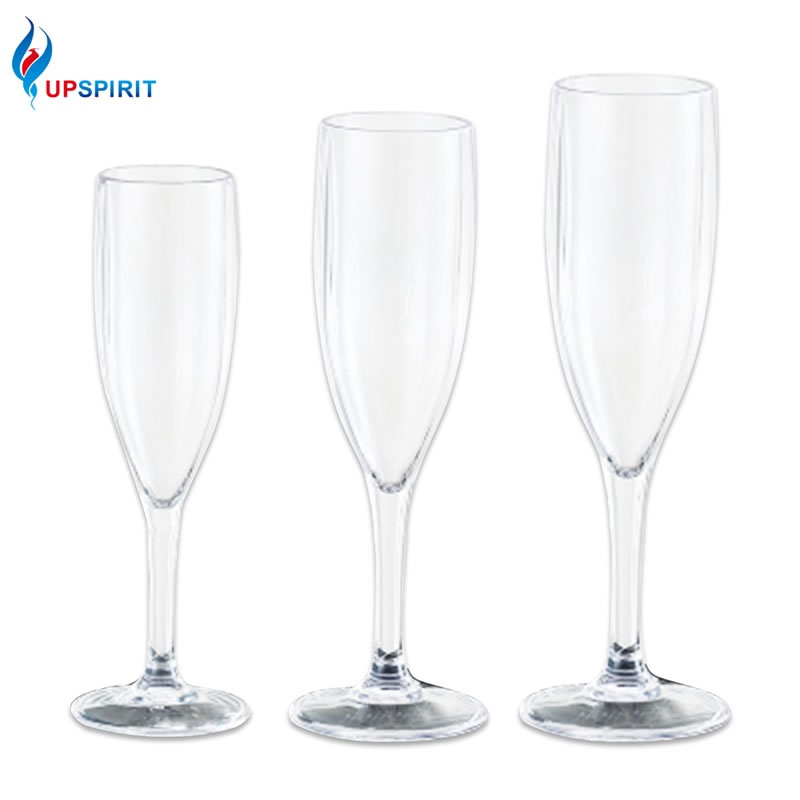 Upspirit Acrylic Champagne Flute Cocktail Cup Sodas Wine Beer Toasting Glass Beach/Wedding Party Cups Bar KTV Drinkware