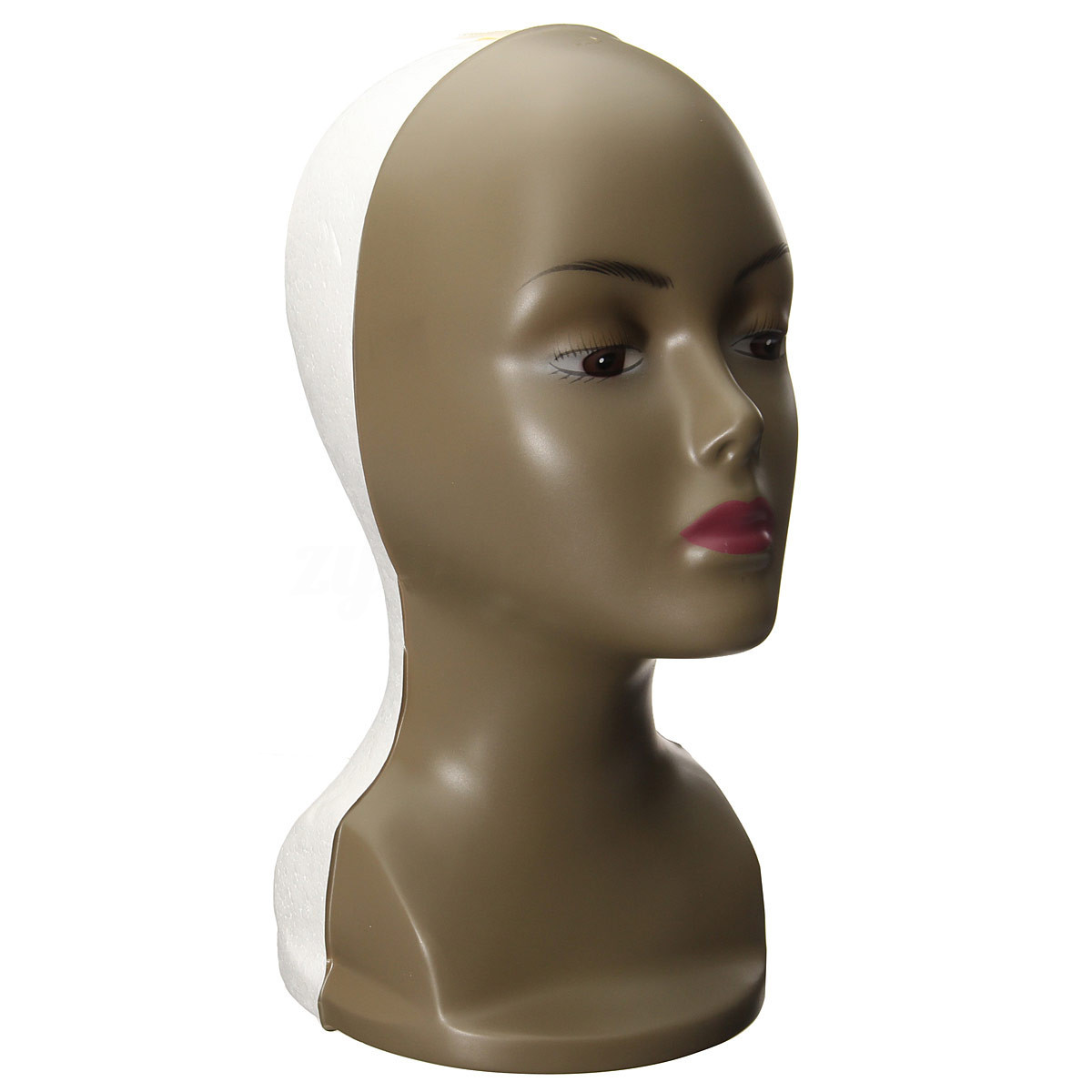 Hot Sale Female Plastic foam Mannequin Wig Hair Hat Foam Display Head Model Stand