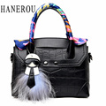 Fashion Ribbons Ladies Hand Bags Stone Pattern Women Crossbody Bag Famous Brand Feathers Messenger Bag Hot Selling Sac A Main