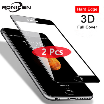2Pcs 3D Full Cover Tempered Glass for iPhone 8 7 6 6s Plus 5 5s SE Screen Protector On iPhone X XS 11 Pro Max XR Protective Film