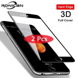 Image 1 - 2Pcs 3D Volle Abdeckung Gehärtetem Glas für iPhone 8 7 6 6s Plus 5 5s SE Bildschirm protector Auf iPhone X XS 11 Pro Max XR Schutzhülle Film