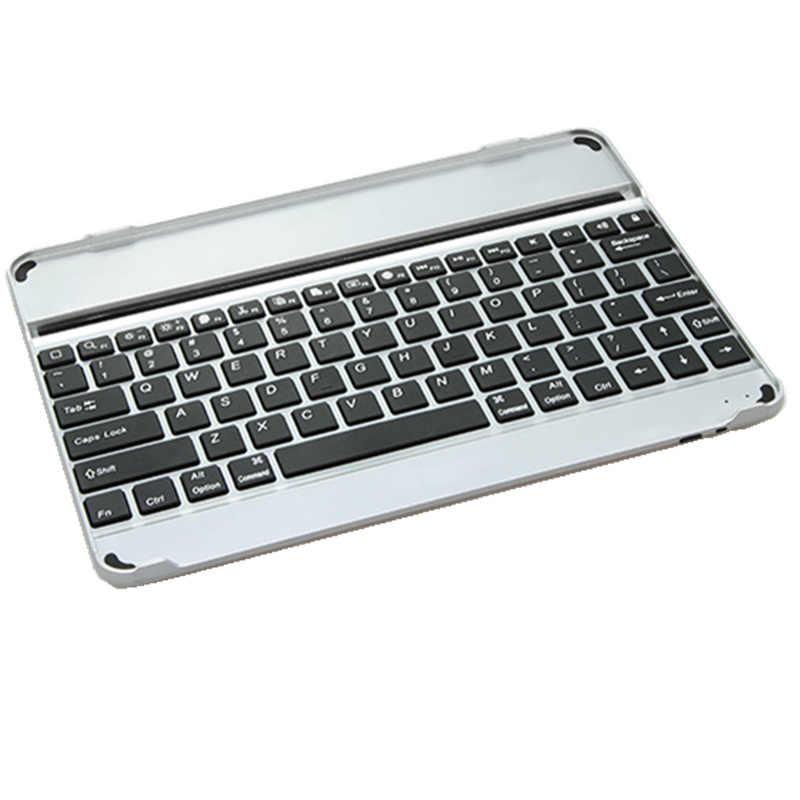 Kemile Aluminium Wireless Bluetooth 3.0 Keyboard Untuk Apple iPad Air 1 & air2 Logam & untuk iPad5 9.7 inch + pelindung layar & Touch pen